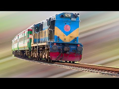 Ekota Express with Indonesian PT INKA made Rake & India made WDM 3a Loco- Bangladesh Railway