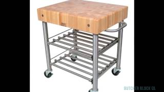 John Boos Cucina D'amico Kitchen Carts | Butcher Block Co.