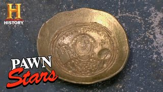 Pawn Stars: BIG BET for RIDICULOUSLY RARE Ancient Byzantine Coin (Season 8) | History