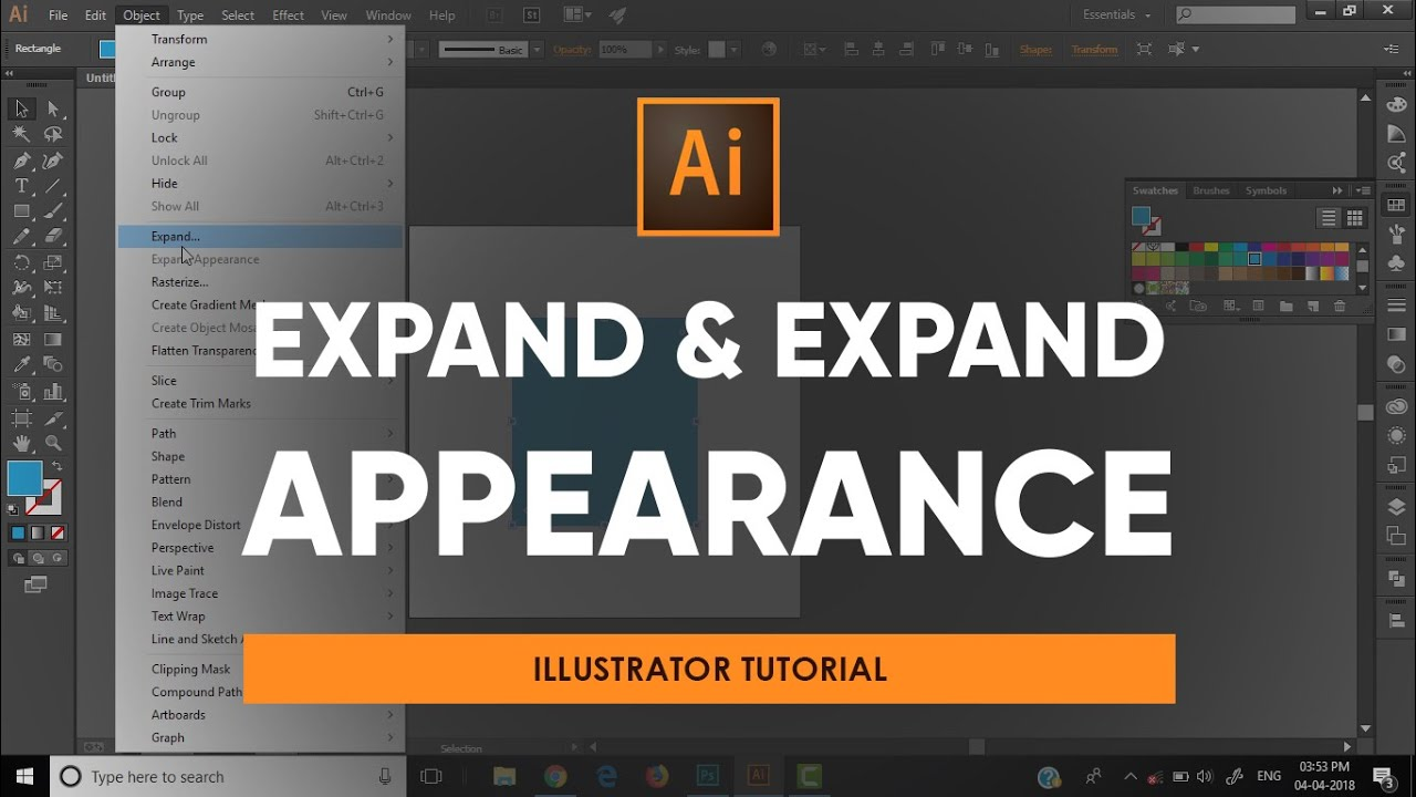 Using Expand And Expand Appearance Adobe Illustrator Tutorial