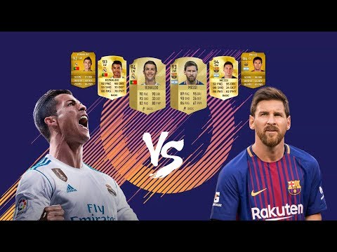 Messi vs Ronaldo from FIFA 09 to 18   Cards & Ratings Comparison