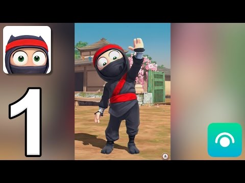 Clumsy Ninja - Gameplay Walkthrough Part 1 - Level 1-3 (iOS, Android)