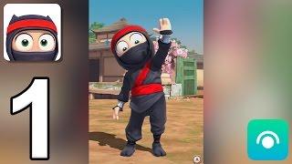 clumsy ninja gameplay walkthrough part 1 level 1 3 ios android
