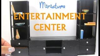 DIY Entertainment Center Dollhouse Miniature Tutorial