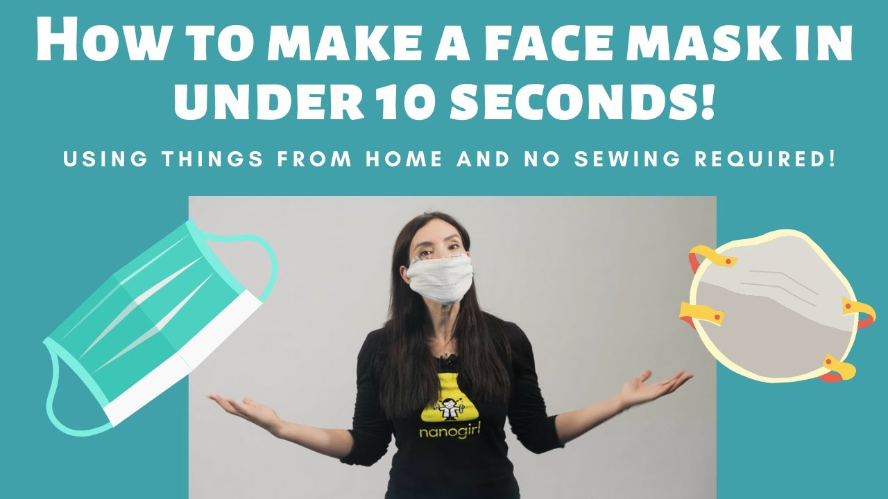 How to make a face mask in 10 seconds!