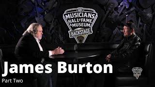 James Burton - Part Two. Musicians Hall of Fame Backstage.