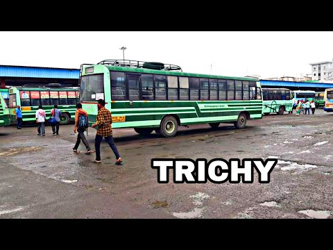 Trichy Bus Stand, Walking In Trichy Bus Stand, Tamilnadu Bus Stand, Street Walking In Trichy,