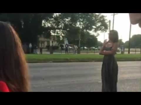 Ieisha Evans arrest following an Alton Sterling shooting protest in Baton Rouge