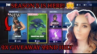 Fortnite Battle Royale | 2 GIVEAWAYS At 2k Subs | Season 5 | Chilled Stream :)