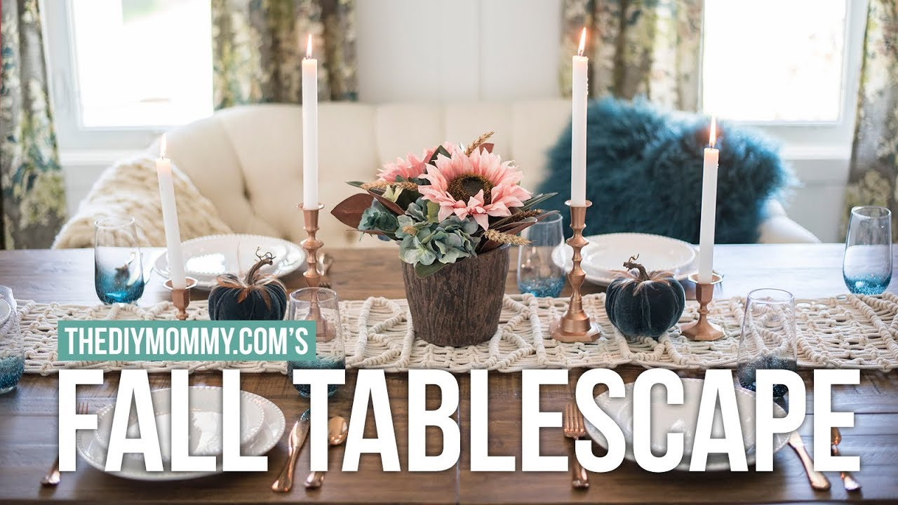 FALL TABLESCAPE And DINING ROOM TOUR