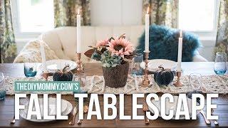 Fall Tablescape And Dining Room Tour | Farmhouse Boho Chic Autumn Decor | The Diy Mommy