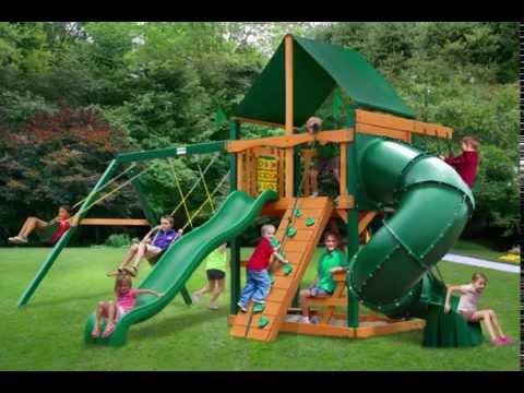 Gorilla Playsets Mountaineer Swing Set W Timber Shield And Sunbrella