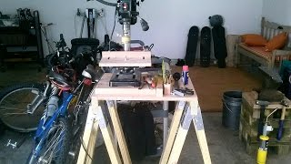 Making A Sawhorse Work Table For My Drill Press