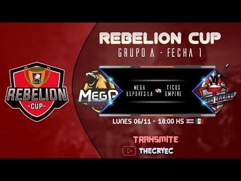 🔴 Rebelion Cup - Mega eSports LA vs Ticos Empire - Clash Royale - TheCryEc