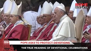 Pope asks to protect devotions to Our Lady and the saints from mafioso influences