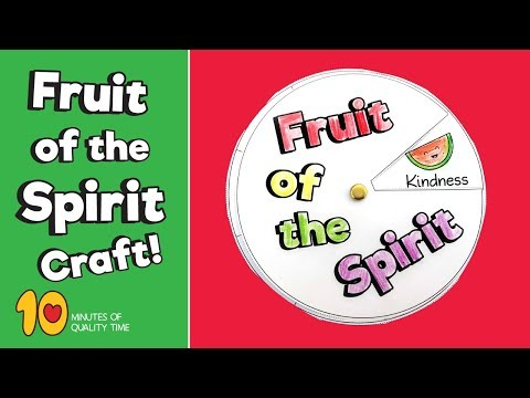 Fruit Of The Spirit Craft - Sunday School Crafts For Kids