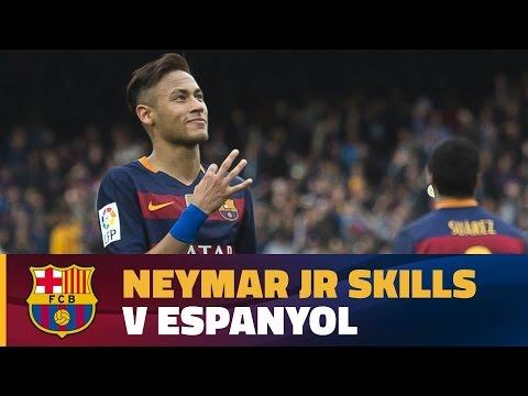 Best Neymar Jr's moments against RCD Espanyol