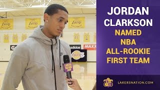 Lakers Rookie Jordan Clarkson Named NBA All-Rookie First Team