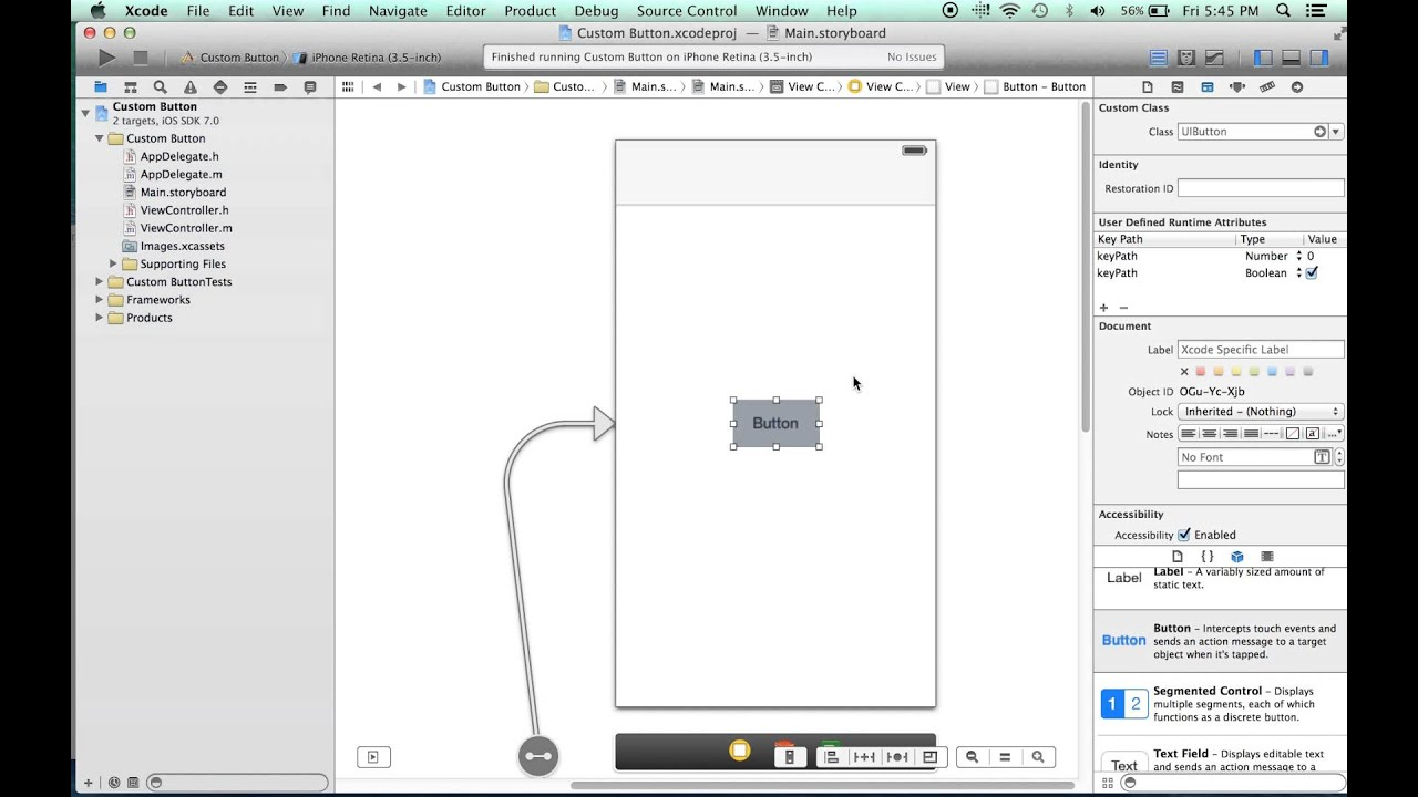 How To Make A Round Button In Ios 7 Using Xcode 5