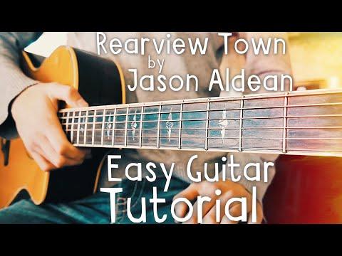 Rearview Town Jason Aldean Guitar Lesson for Beginners // Rearview Town Guitar // Guitar Lesson #438