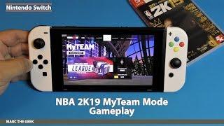 Nintendo Switch: NBA 2K19 MyTeam Mode Gameplay