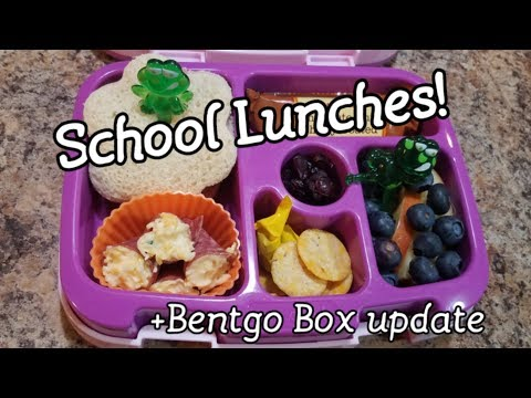 Nineteenth week of school lunches - what she ate - bento style lunch - Bentgo Box - bento lunch