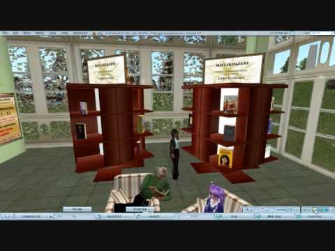 Machinima: Favorite books exhibition in Helsinki City Adult Education Centre in Second Life