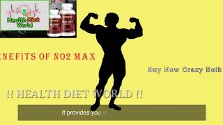 Crazy Bulk NO2 Max Review   Health Diet World
