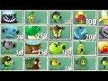 Plants vs Zombies 2 Free vs Premium - Dusk Lobber, Pea Pod, Repeater, Banana, Spore Shroom