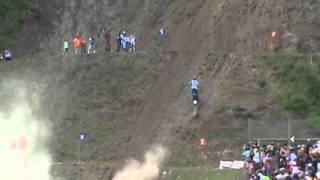 Man Flips Off From Dirt Bike Poags Hole hill climb 2013
