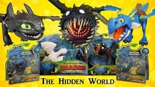 CREEPY Dragon! How to Train Your Dragon 3 The Hidden World Toys - Light Fury, Toothless, Stormfly
