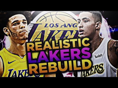 LONZO BALL AND KYLE KUZMA!! LAKERS REALISTIC REBUILD! NBA 2K18