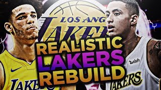 LONZO BALL AND KYLE KUZMA!! LAKERS REALISTIC REBUILD! NBA 2K18 2017 Video