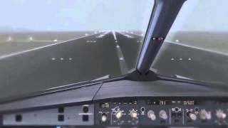 Аэробус А321 - Вид из кабины пилота. Самые Опасные Взлёты