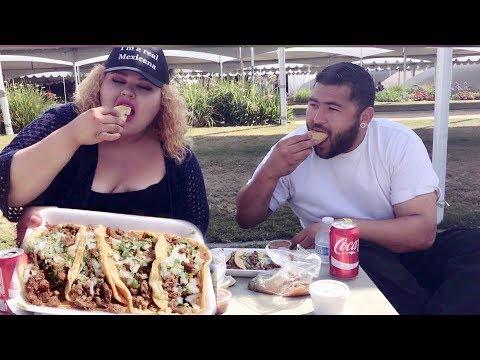 Carne Asada Tacos MUKBANG with VidCon Security Joseph