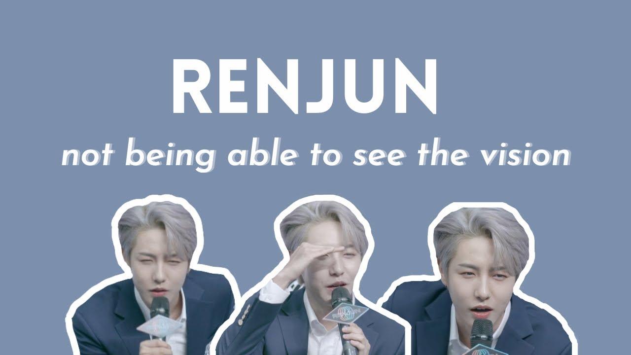 renjun vs his eyesight