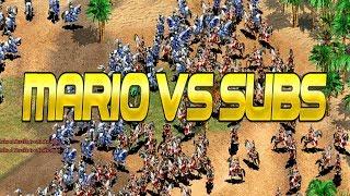 MARIO VS SUBS EN VIVO AGE OF EMPIRES 2