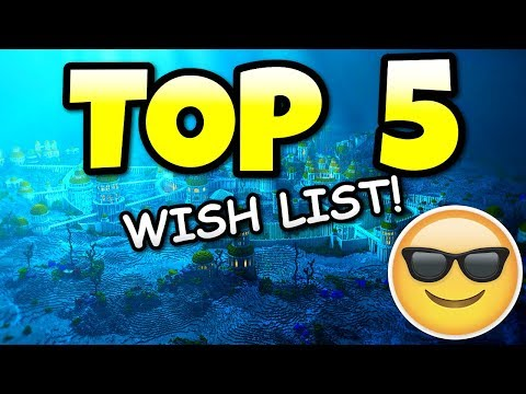 Minecraft Top 5 Features Wish List! Aquatic Update New Boss & Potions? PS4 & Xbox