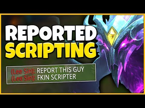 *BANNED* I GOT REPORTED FOR SCRIPTING (HUGE FREAK OUT) - League of Legends