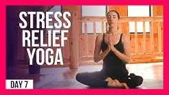 10 min Morning Yoga For Anxiety & Stress– Day #7 (ANXIETY & STRESS STRETCH)