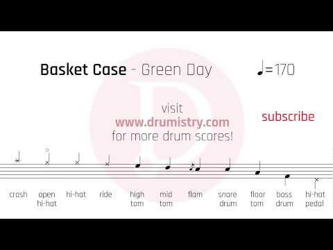 Green Day - Basket Case Drum Score