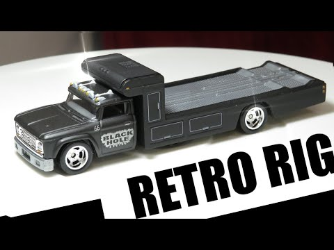 Hot Wheels Retro Rig Black Hole Racing - Premium Collector Set - Car Culture: Team Transport (2020)