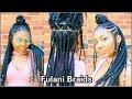 FULANI BRAIDS HAIR TUTORIAL!