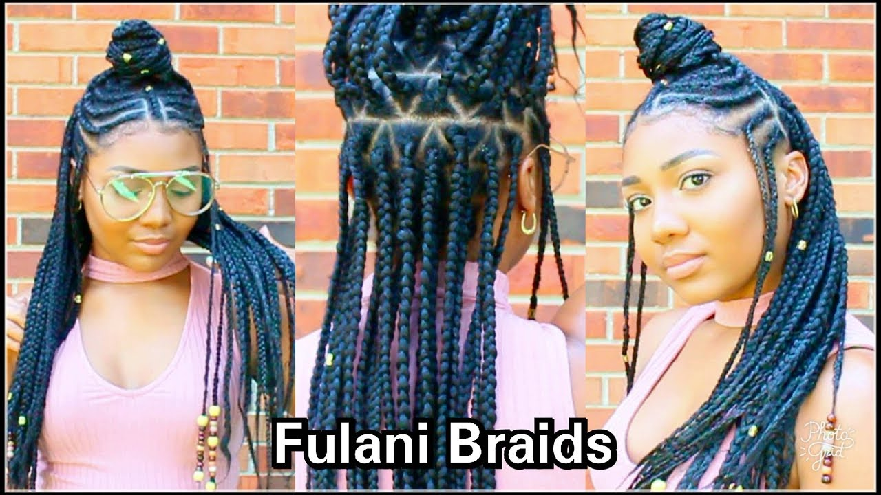 FULANI BRAIDS HAIR TUTORIAL YouTube