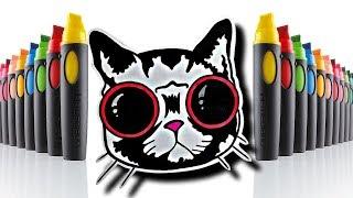 Рисуем просто и красиво | Как нарисовать крутого кота в очках