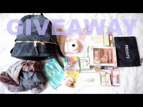 HUGE BACK-TO-SCHOOL GIVEAWAY  /  /   POLAROID CAMERA, BACKPACK, MAKEUP & MORE!