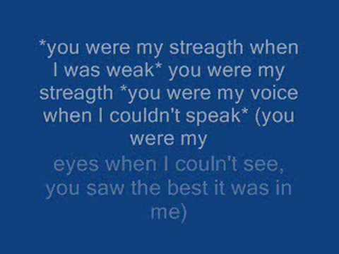 Celine Dion - Because You Loved Me - Lyrics