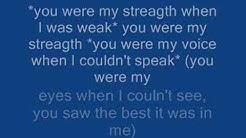 Celine Dion - Because You Loved Me - Lyrics