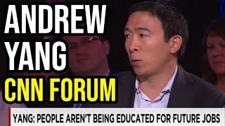 Andrew Yang Speaks at a CNN Education and Entrepreneurship Forum | June 13th 2015 with Poppy Harlow