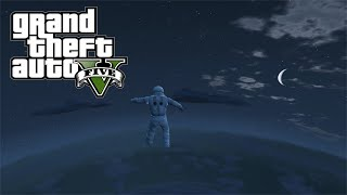 GTA 5 INSANE JUMP FROM SPACE (Grand Theft Auto 5 Mods)